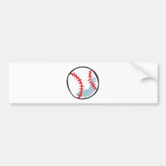 Baseball in Hand-drawn style Bumper Sticker