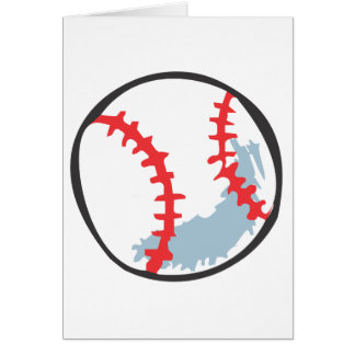 Baseball in Hand-drawn style Card
