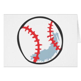 Baseball in Hand-drawn style Greeting Card