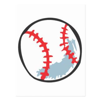 Baseball in Hand-drawn style Postcard