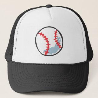 Baseball in Hand-drawn style Trucker Hat