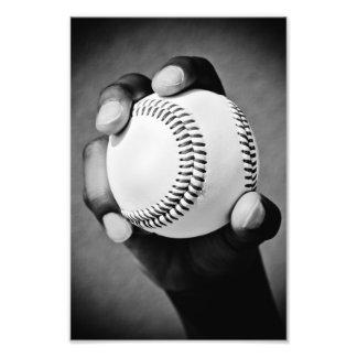 baseball in hand photo print
