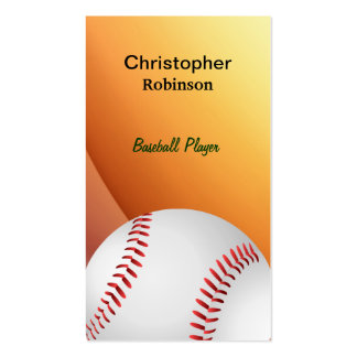 Baseball in Mitt Business cards
