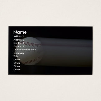 Baseball in motion business card