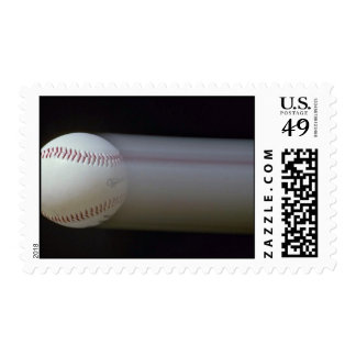 Baseball in motion postage