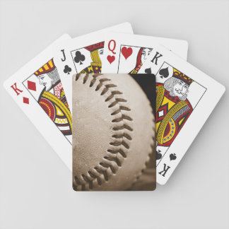 Baseball in Sepia Playing Cards