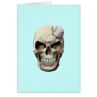 Baseball in Skull Card