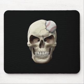 Baseball in Skull Mouse Pad