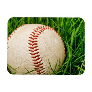 Baseball in the Grass Rectangular Photo Magnet