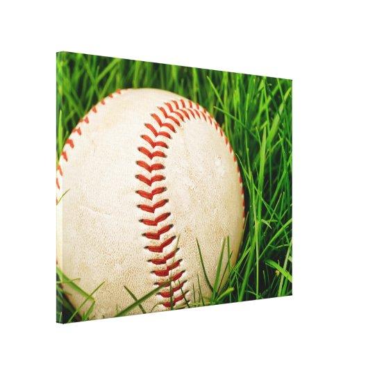 Baseball in the Summer Grass Canvas Print