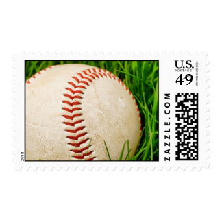 Baseball in the Summer Grass Postage