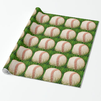 Baseball in the Tall Summer Grass Wrapping Paper
