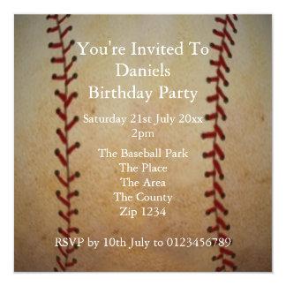 Baseball 5.25x5.25 Square Paper Invitation Card
