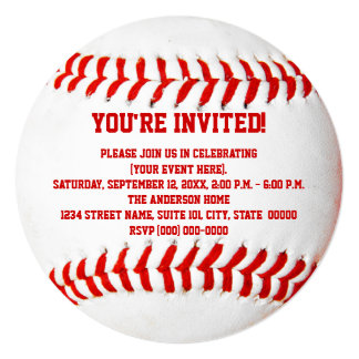 Baseball Game Invitations & Announcements | Zazzle
