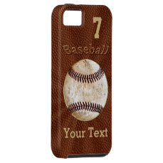 Baseball iPhone Cases with YOUR NUMBER and NAME