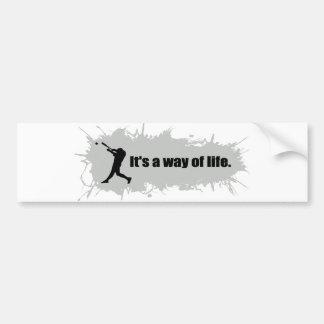 Baseball  Is a Way of Life Bumper Sticker