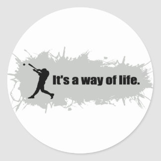 Baseball  Is a Way of Life Classic Round Sticker