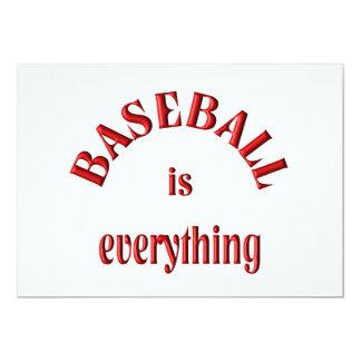 Baseball is Everything Custom Invitation
