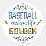 BASEBALL is Golden Round Stickers