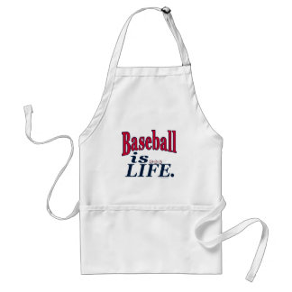 Baseball is Life by Mudge Studios Adult Apron