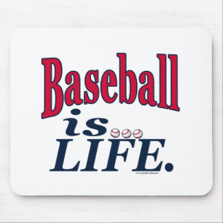 Baseball is Life by Mudge Studios Mouse Pad