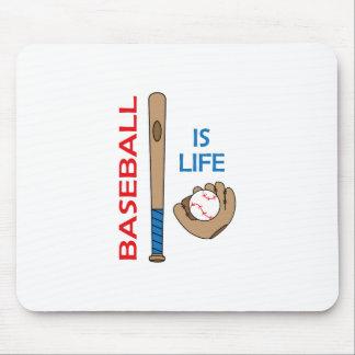 BASEBALL IS LIFE MOUSEPADS