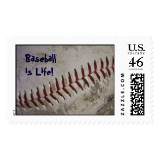 """Baseball is Life!"" Postage Stamps - Large"