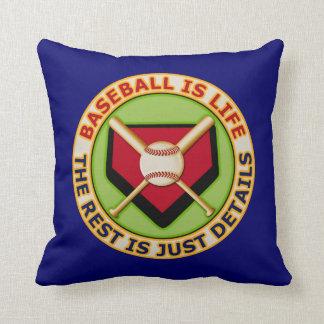 Baseball Is Life Throw Pillow