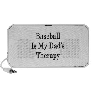 Baseball Is My Dad's Therapy Mini Speakers