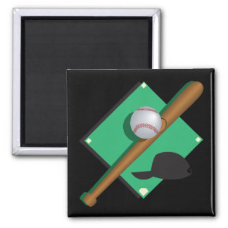 Baseball Is My Heart 2 Inch Square Magnet