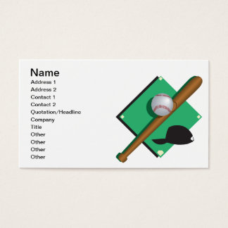 Baseball Is My Heart Business Card