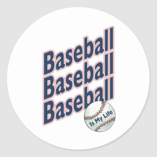 Baseball Is My Life Classic Round Sticker