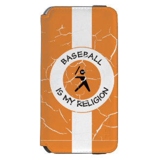 BASEBALL IS MY RELIGION iPhone 6/6S WALLET CASE