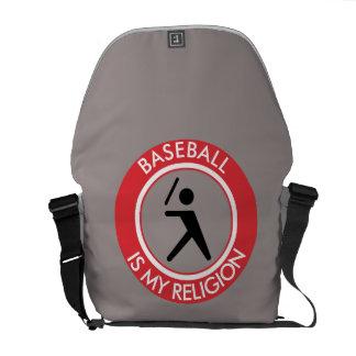 BASEBALL ISMY RELIGION MESSENGER BAG