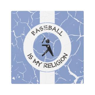 BASEBALL ISMY RELIGION METAL PHOTO PRINT