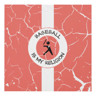 BASEBALL ISMY RELIGION PANEL WALL ART