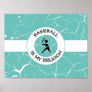 BASEBALL ISMY RELIGION POSTER