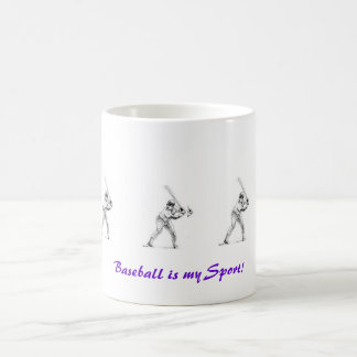 """Baseball is my Sport"" Mug"