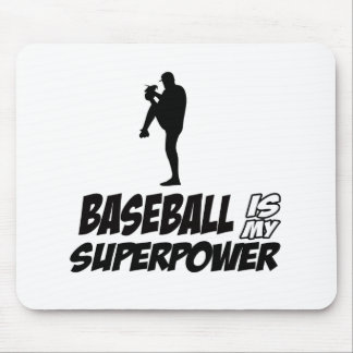 baseball is my superpower mouse pad