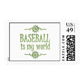 Baseball is My World Stamp