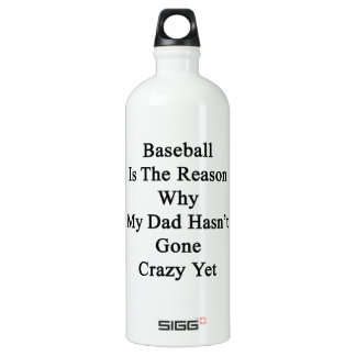Baseball Is The Reason Why My Dad Hasn't Gone Craz SIGG Traveler 1.0L Water Bottle