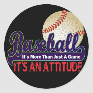 BASEBALL - IT S MORE THAN JUST A GAME ROUND STICKER