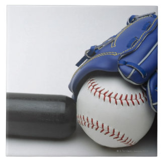 Baseball items ceramic tile
