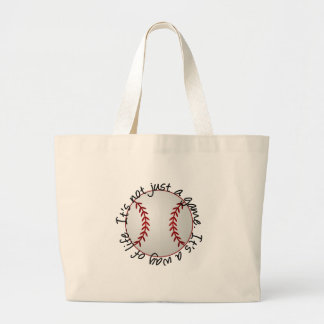 Baseball-its not just a game tote bag