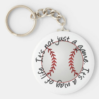 Baseball-its not just a game keychain