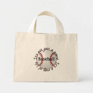 Baseball-its not just a game mini tote bag