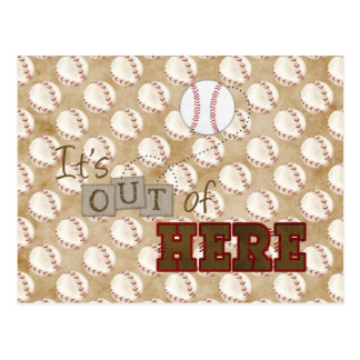 baseball Its out of here Postcard