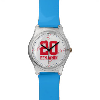Baseball Jersey Number Wristwatches