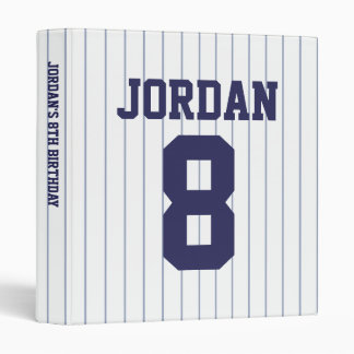Baseball Jersey - Sports Theme Birthday Party 3 Ring Binder
