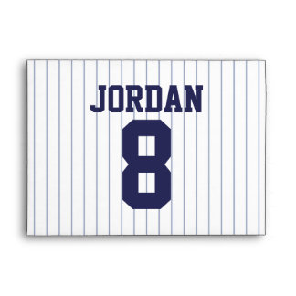 Baseball Jersey - Sports Theme Birthday Party Envelope